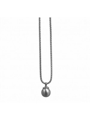 """White Gold 17"""" Necklace 14KT"""