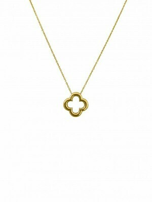 Yellow Gold Clover Necklace 14KT