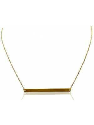 Yellow Gold Bar Necklace 14KT