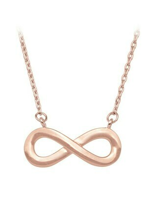 Pink Gold Infinity Necklace 10KT