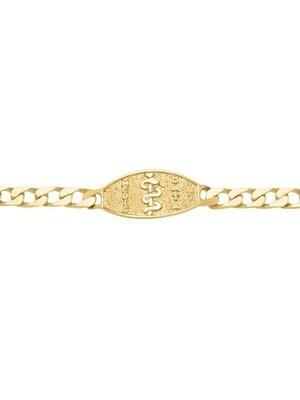Yellow Gold Medical Data Bracelet 10KT & 14KT