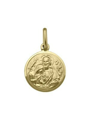 Yellow Gold Solid Communion Medal 10KT, 14KT & 18KT