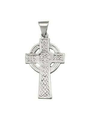 White Gold Celtic Cross 10KT, 14KT & 18KT