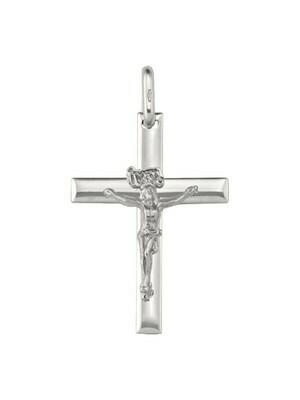 White Gold Crucifix 14KT & 18KT