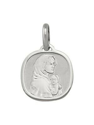 White Gold Madonna Medal 14KT & 18KT
