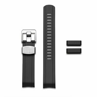 Crafter Blue - Curved End Rubber Strap For Seiko MM200 Series (CB13)