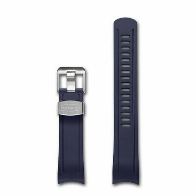 Crafter Blue - Curved End Rubber Strap For Seiko SKX Series (CB05)