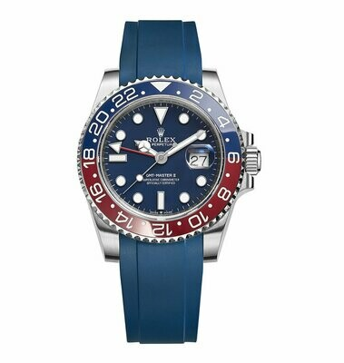 Crafter Blue - Curved End Rubber Strap For Rolex Series (RX01)