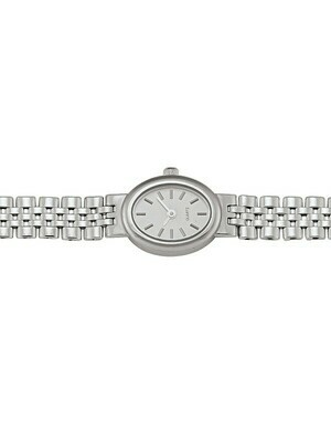 Ladies White Gold Oval Face Watch 14KT & 18KT