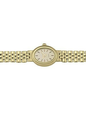 Ladies Yellow Gold Oval Face Watch 14KT & 18KT