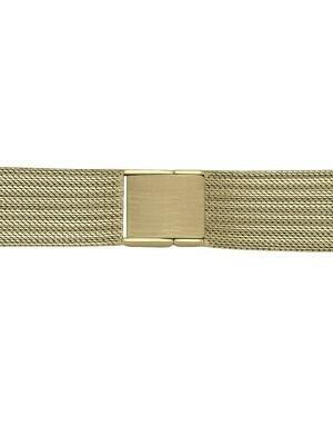 Yellow Gold Men Mesh Watchband 14KT & 18KT