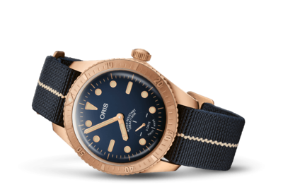Oris Carl Brashear Calibre 401 Limited Edition Blue Dial 40MM Automatic 01 401 7764 3185-Set