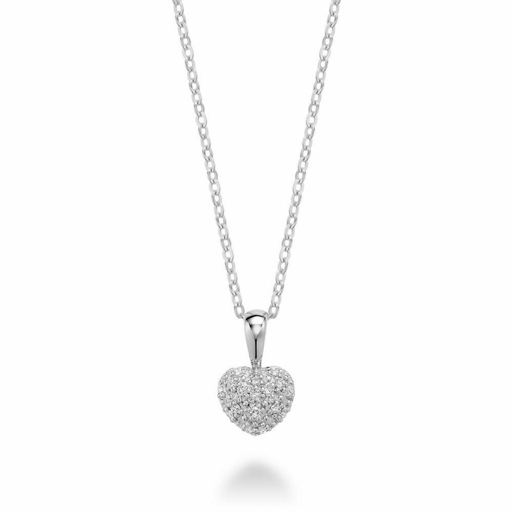 Diamond Encrusted Heart 10KT White Gold