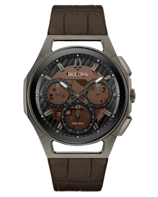 Curv Chronograph Brown Dial 43MM Quartz 98A231