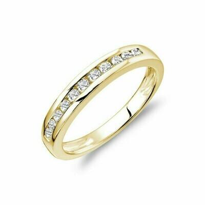 Channel Set Diamond Band 14KT Yellow Gold 0.75 CTDI
