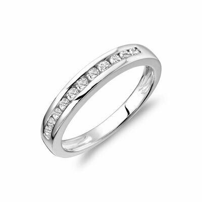 Channel Set Diamond Band 14KT White Gold 0.75 CTDI