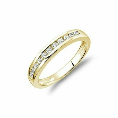 Channel Set Diamond Band 14KT Yellow Gold 0.30 CTDI