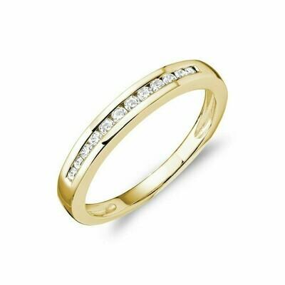 Channel Set Diamond Band 14KT Yellow Gold 0.20 CTDI