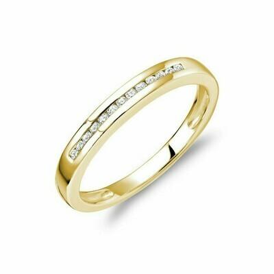 Channel Set Diamond Band 14KT Yellow Gold 0.10 CTDI