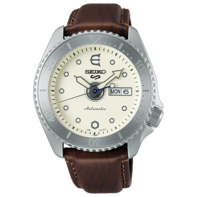 Seiko 5 Sports White Dial 43MM Evisen Skateboards Limited Edition Automatic SRPF93K1