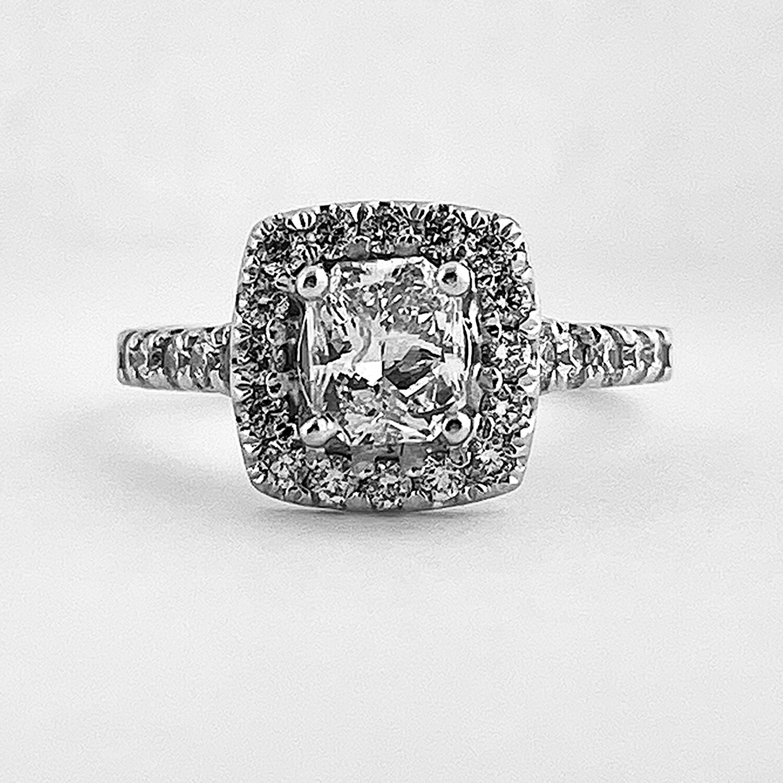 Radiant Cut Engagement Ring Halo