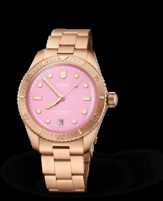 Oris Aquis Divers Sixty-Five Pink Dial 38MM Automatic