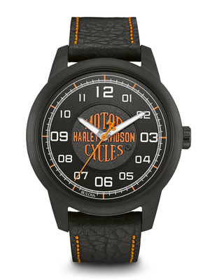 Harley-Davidson Black Dial 42MM Quartz 78A116