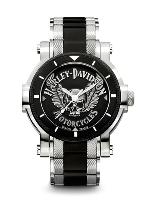 Harley-Davidson Black Dial 40MM Quartz 78A109