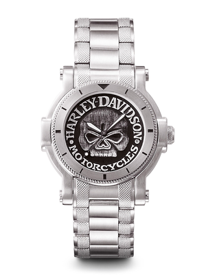 Harley-Davidson Black Dial 39MM Quartz 76A11