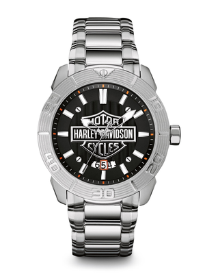 Harley-Davidson Black Dial 44MM Quartz 76B169