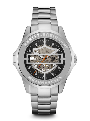 Harley-Davidson Black Dial 44MM Quartz 76A154