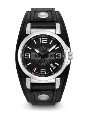 Harley-Davidson Black Dial 40MM Quartz 76B163