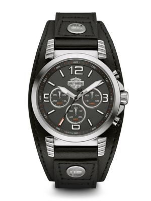 Harley-Davidson Black Dial 40MM Quartz 76B173