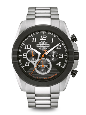 Harley-Davidson Black Dial 47MM Quartz 76B175