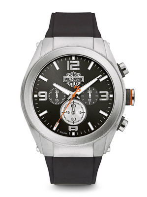 Harley-Davidson Black Dial 47MM Quartz 76B176