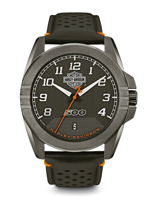 Harley-Davidson Black Dial 47MM Quartz 78B143