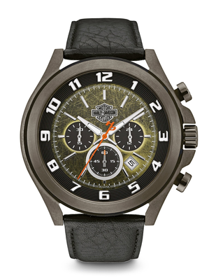 Harley-Davidson Green Dial 51MM Quartz 78B149