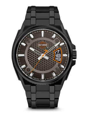 Harley-Davidson Black Dial 45MM Quartz 78B151