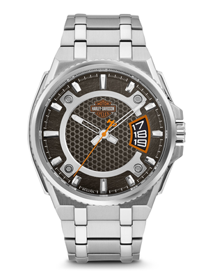 Harley-Davidson Black Dial 45MM Quartz 76B180