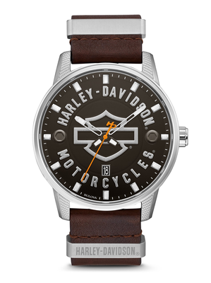 Harley-Davidson Black Dial 45MM Quartz 76B178