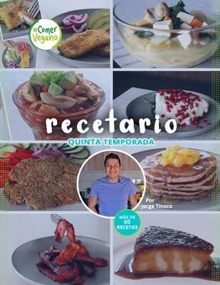 RECETARIO DIGITAL #ComerVegano Quinta Temporada