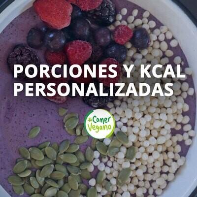 SOLICITUD DE PORCIONES Y KCAL PERSONALIZADAS | Complemento de guías alimentarias