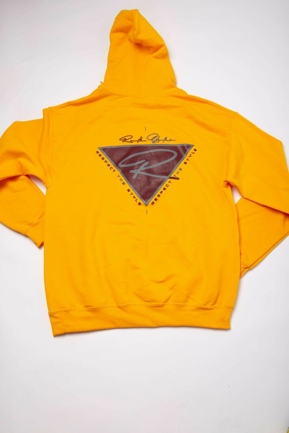 Gold Back Logo Respect the Style Hoodie!