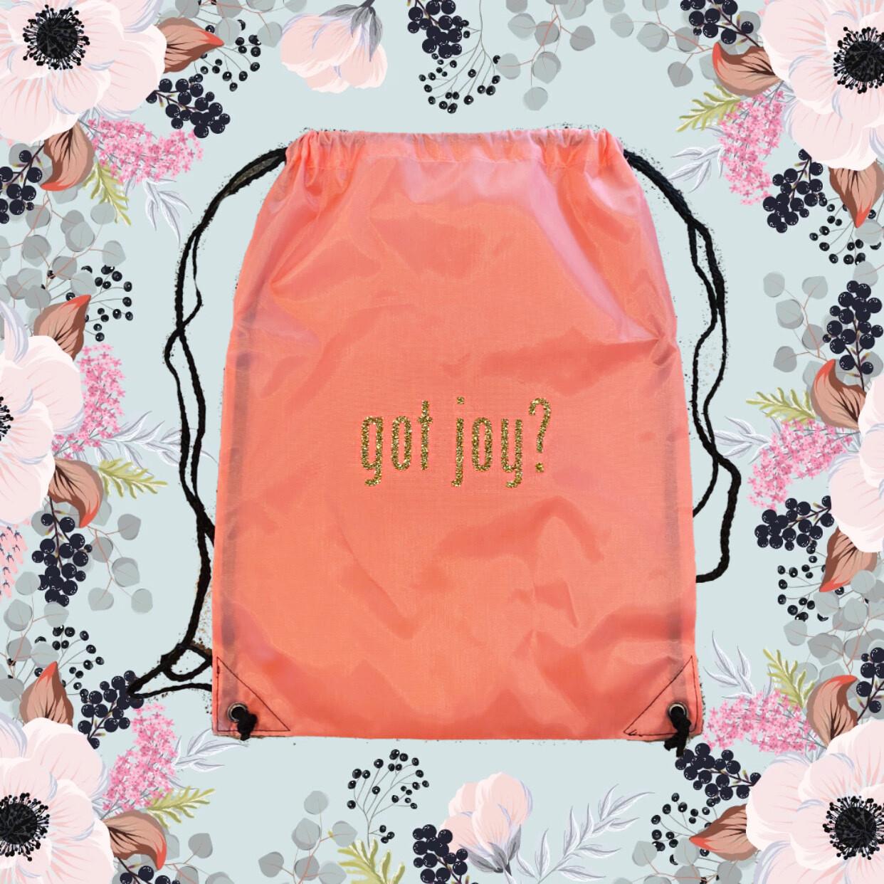 Got Joy Drawstring Bag