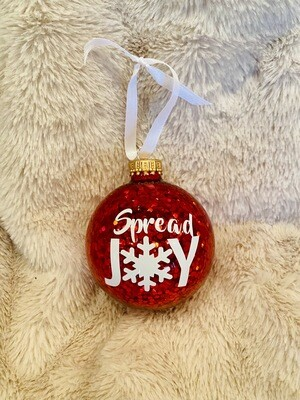 Signed Spread Joy Ornament