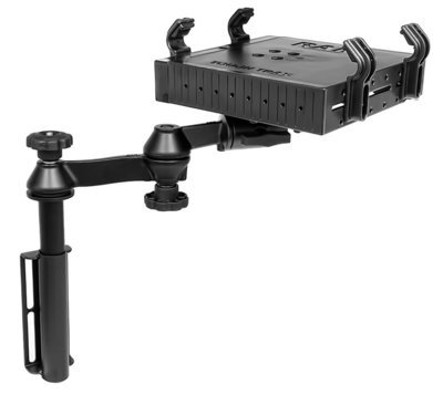 Universal Flat Surface Vertical Drill-Down Vehicle Laptop Mount Stand