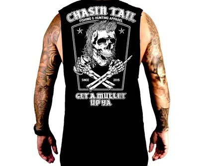 GET A MULLET UP YA - Black muscle tank