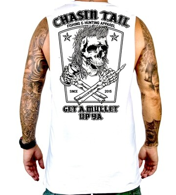 GET A MULLET UP YA - Muscle tank white