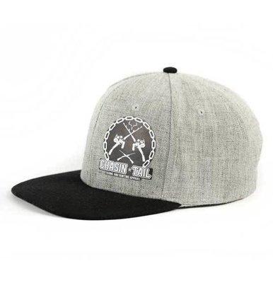 FREESTYLER SNAPBACK FLAT BRIM HAT / grey - black
