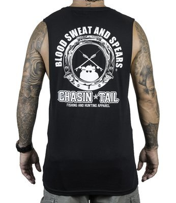 BLOOD SWEAT AND SPEARS muscle singlet / black